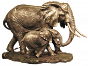 Bronze Elephant Tembo Authentic African Crafts