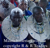 maasai married women with necklaces