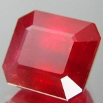 Natural Ruby Emerald Cut