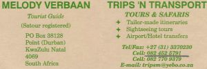 Melody Verbaan Trips 'N Transport